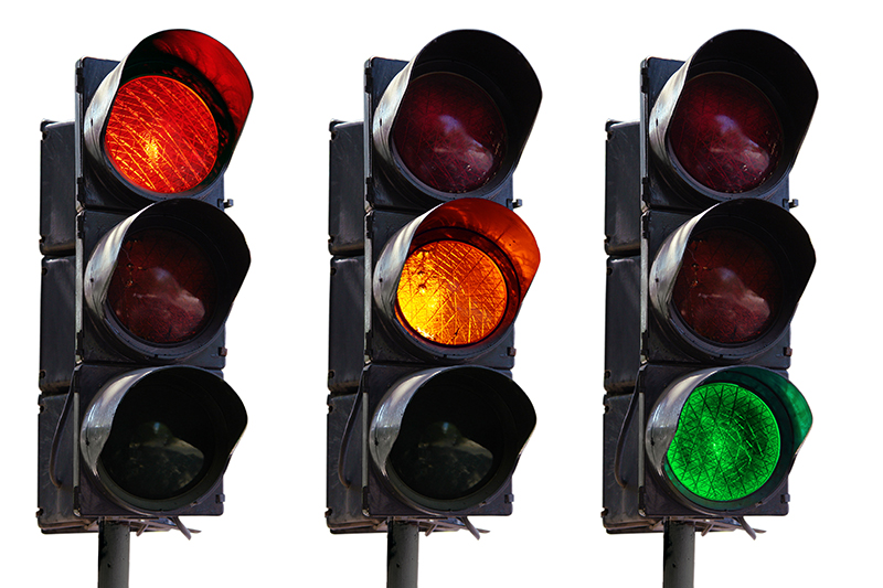 Traffic lights provide great variable insight using just 3 status types