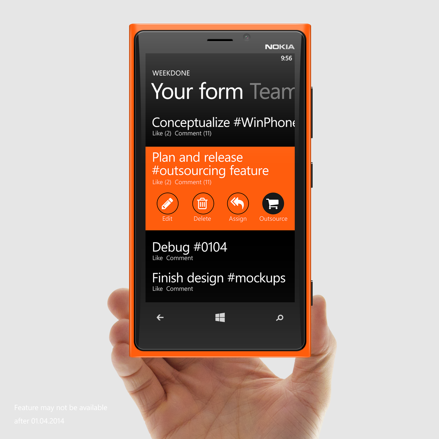 Weekdone Plan Outsourcing Windows Phone