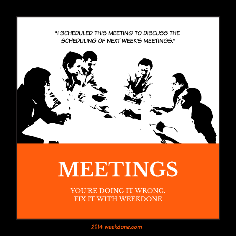 Team meetings, trying teamwork without meetings