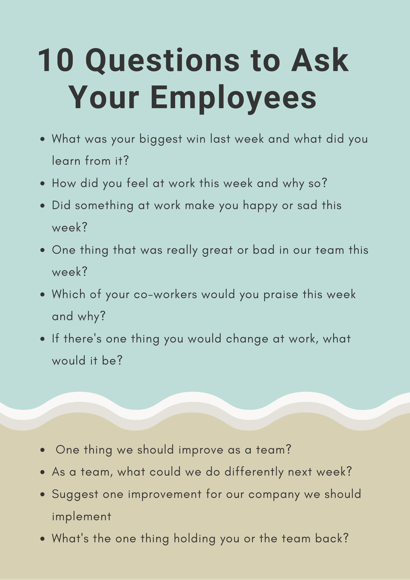 10 questions to ask your employees