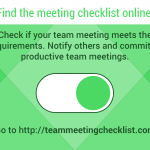 Team Meeting Checklist Challenges Unproductive Meetings