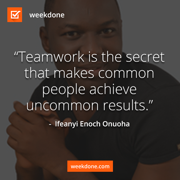 Teamwork with Weekdone