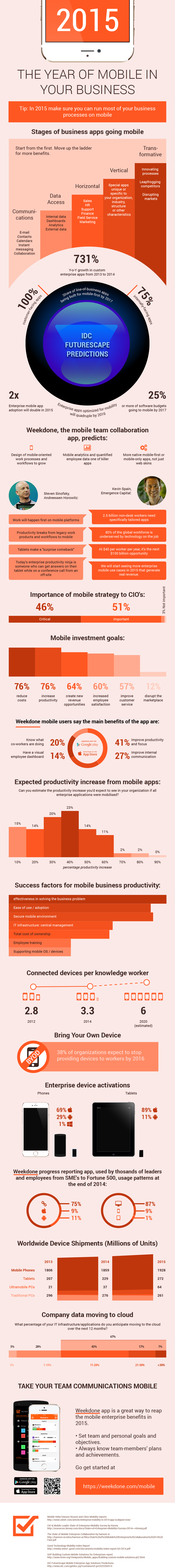 The Year of Mobile in Your Business [infographic]