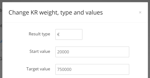 OKR change type values