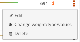 OKR change weight type values
