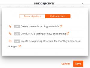 OKR linking