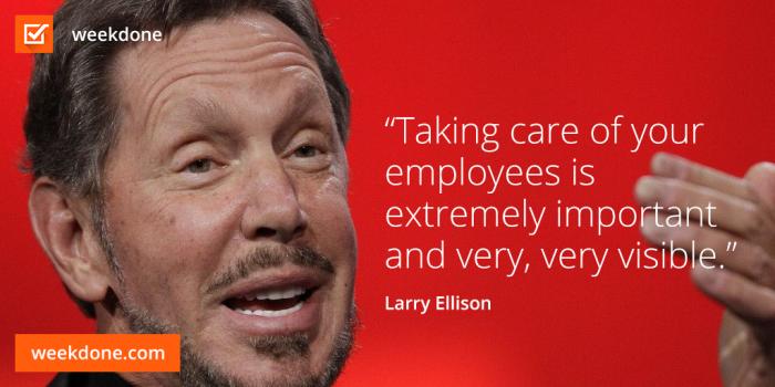 Larry Ellison - leadership