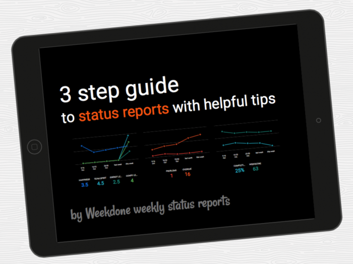 3 step guide to status reporting