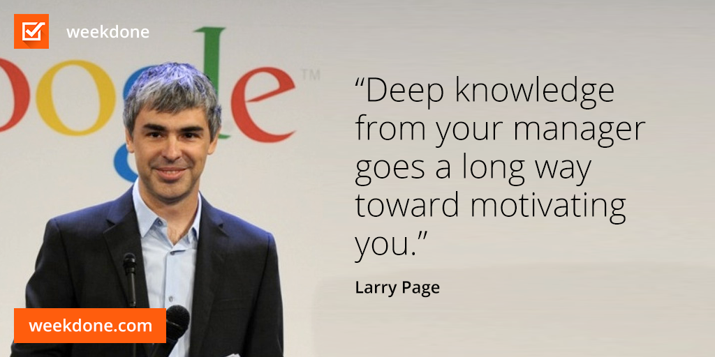 Larry Page - feedback