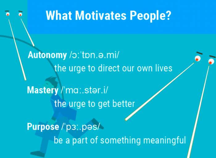 what motivated people infographic