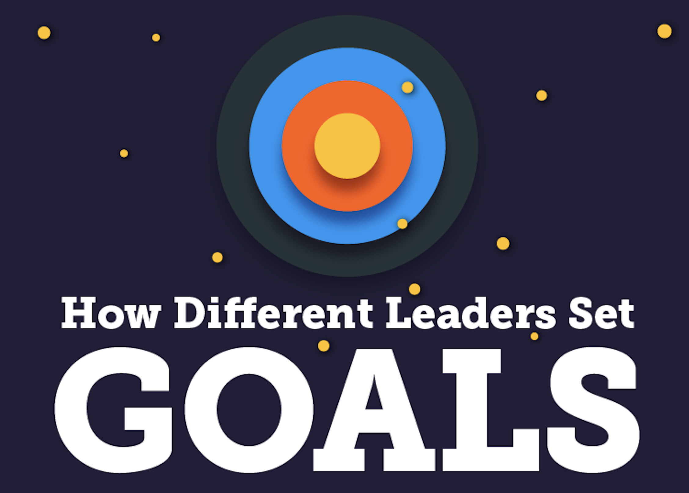 How Different Leaders, Like Trump, Elon Musk, Kennedy, Set Goals (Infographic)