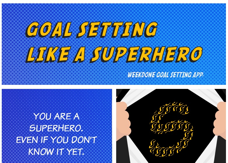 setting goals like a superhero infographic weekdone