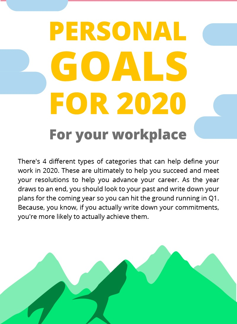 goals personal infographic weekdone draft