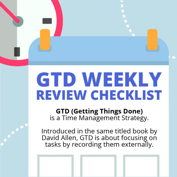 The Best GTD Weekly Review Checklist: With Free PDF