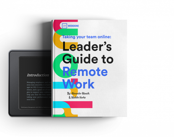 remote work ebook by Weekdone