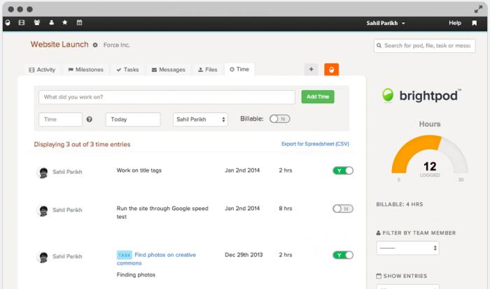 marketing project management software brightpod